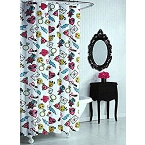 Betsey Johnson Emojis shower curtain